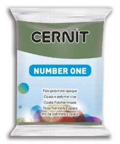 Polymer Clay Cernit Number One, 645 Olive Green - 56g