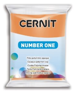 Polymer Clay Cernit Number One, 752 Orange - 56g