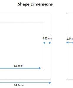 Rhodium Plated Square Shape - 14mm (6 Pkg).1
