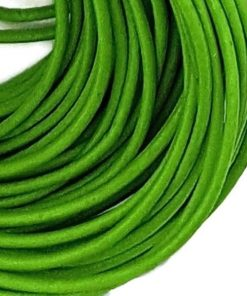 2mm Round Leather - Green (sold by the metre)