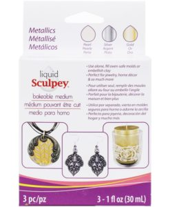 Liquid Sculpey® Metallics Multi Pack - Pearl, Silver & Gold