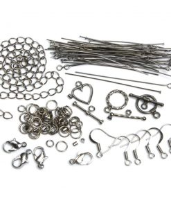 Jewellery Basics – Mixed Findings Starter Pack – Gunmetal (145 pieces)