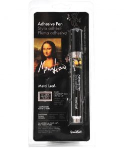 Mona Lisa Metal Leaf Adhesive Pen with Silver Leaf