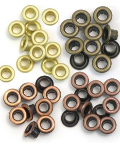 Standard Warm Metal Eyelets, 4 Colours – 60 pcs