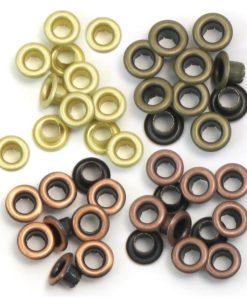 Standard Warm Metal Eyelets, 4 Colours – 60 pcs