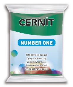 Polymer Clay Cernit Number One, 620 Emerald Green - 56g