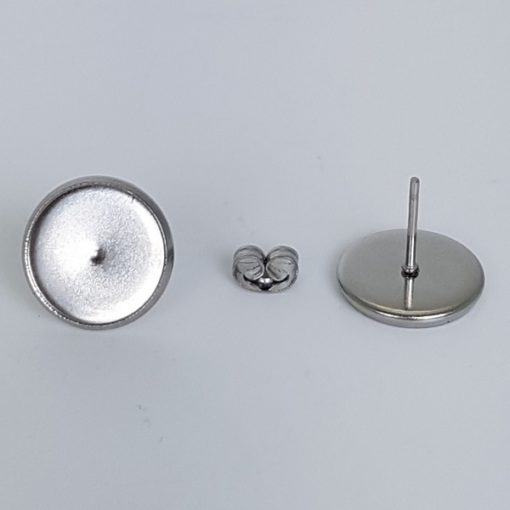 Stainless Steel Ear Studs & Ear Nuts, 12mm Bezel Tray, 10mm Posts 100 Pk.1Stainless Steel Ear Studs & Ear Nuts, 12mm Bezel Tray, 10mm Posts 100 Pk.1Stainless Steel Ear Studs & Ear Nuts, 12mm Bezel Tray, 10mm Posts 100 Pk.1Stainless Steel Ear Studs & Ear Nuts, 12mm Bezel Tray, 10mm Posts 100 Pk.1Stainless Steel Ear Studs & Ear Nuts, 12mm Bezel Tray, 10mm Posts 100 Pk.1Stainless Steel Ear Studs & Ear Nuts, 12mm Bezel Tray, 10mm Posts 100 Pk.1