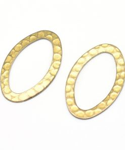 Brass Hammered Oval Shapes (2 pkg)