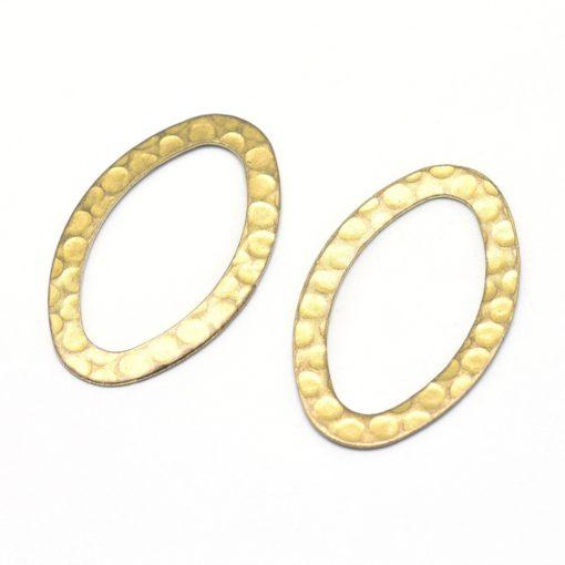 Brass Hammered Oval Shapes (2 pkg)