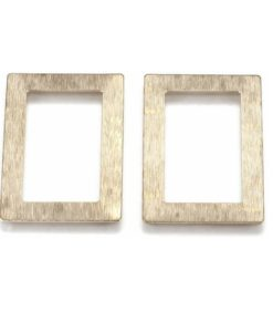 Golden Brass Rectangles (4 pkg)