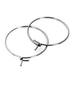 Stainless Steel - 2cm Hoop Ear Wires 50 Pkg