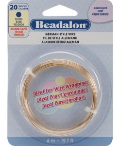 German Style Wire, Round, Gold Colour, 20 gauge