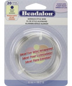 German Style Wire, Round, Silver Colour, 20 gauge
