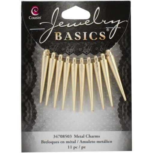 Gold Spike Charms - 35mm (11 Pkg)
