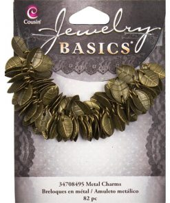 Antique Gold Leaf Charms - 10mm (115 Pkg)