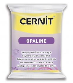 Cernit Opaline Polymer Clay, 56g 717 Primary Yellow