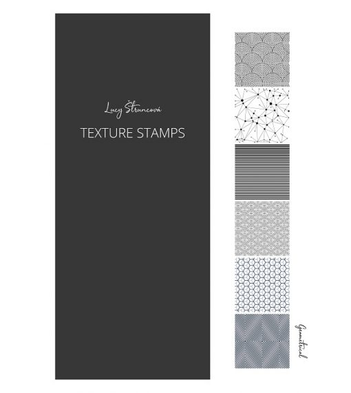 Lucy Struncova Stamp & Texture (Set of 6) - Geometrical.