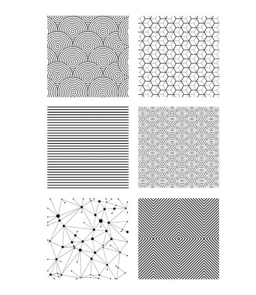Lucy Struncova Stamp & Texture (Set of 6) - Geometrical_1