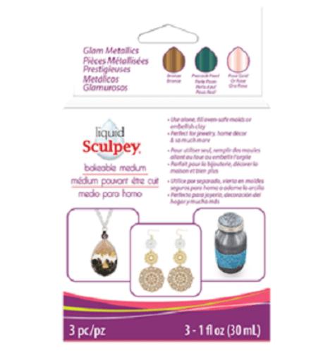 Liquid Sculpey® Bakeable Medium – Glam Metallics