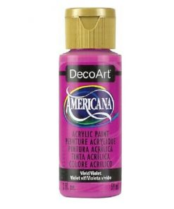 Americana Acrylic Paint (59ml) - Vivid Violet (Semi Opaque).2