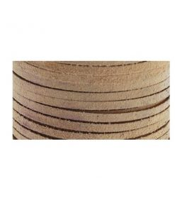 3mm Real Leather Suede Lace - Beige (per roll).jpg.1