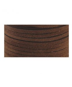 3mm Real Leather Suede Lace - Cafe (per metre).