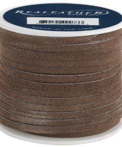 3mm Real Leather Suede Lace - Cafe (per roll)