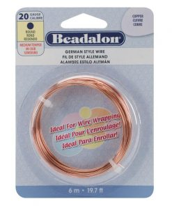 German Style Wire, Round, Copper Colour, 20 gauge
