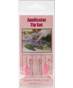 3D Crystal Lacquer Applicator Tips 2 Pkg