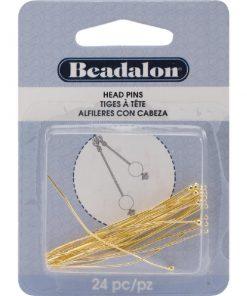 Beadalon Head Pins, Ball, (50 mm), Gold, 24 pc