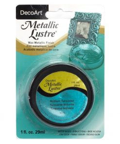 DecoArt Metallic Lustre - Brilliant Turquoise