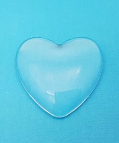 Glass Heart Domed Cabochon 33mm x 33mm