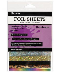 Ranger Shiny Transfer Foil Sheets - Celebrate, 10pc