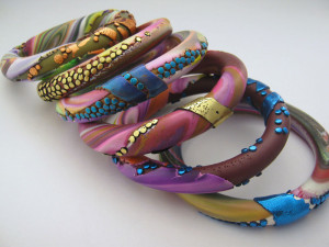 Scrappy Lentil Bangles by Debbie Crothers